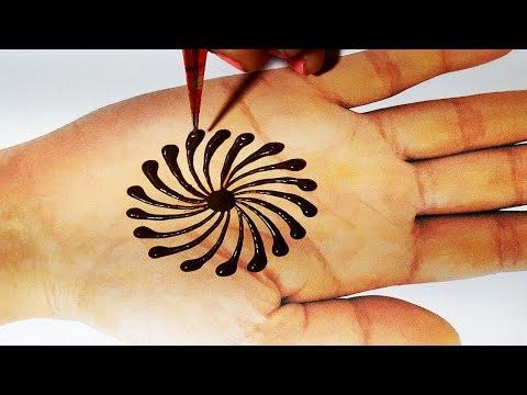 New Trick Mehndi - Beautiful Flower Mehndi Design 2019 - आसानी से मेहँदी लगाना सीखें