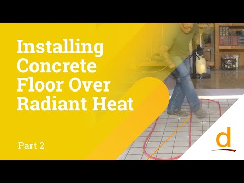How to install Concrete Flooring over Radiant Heating? Part 2/3