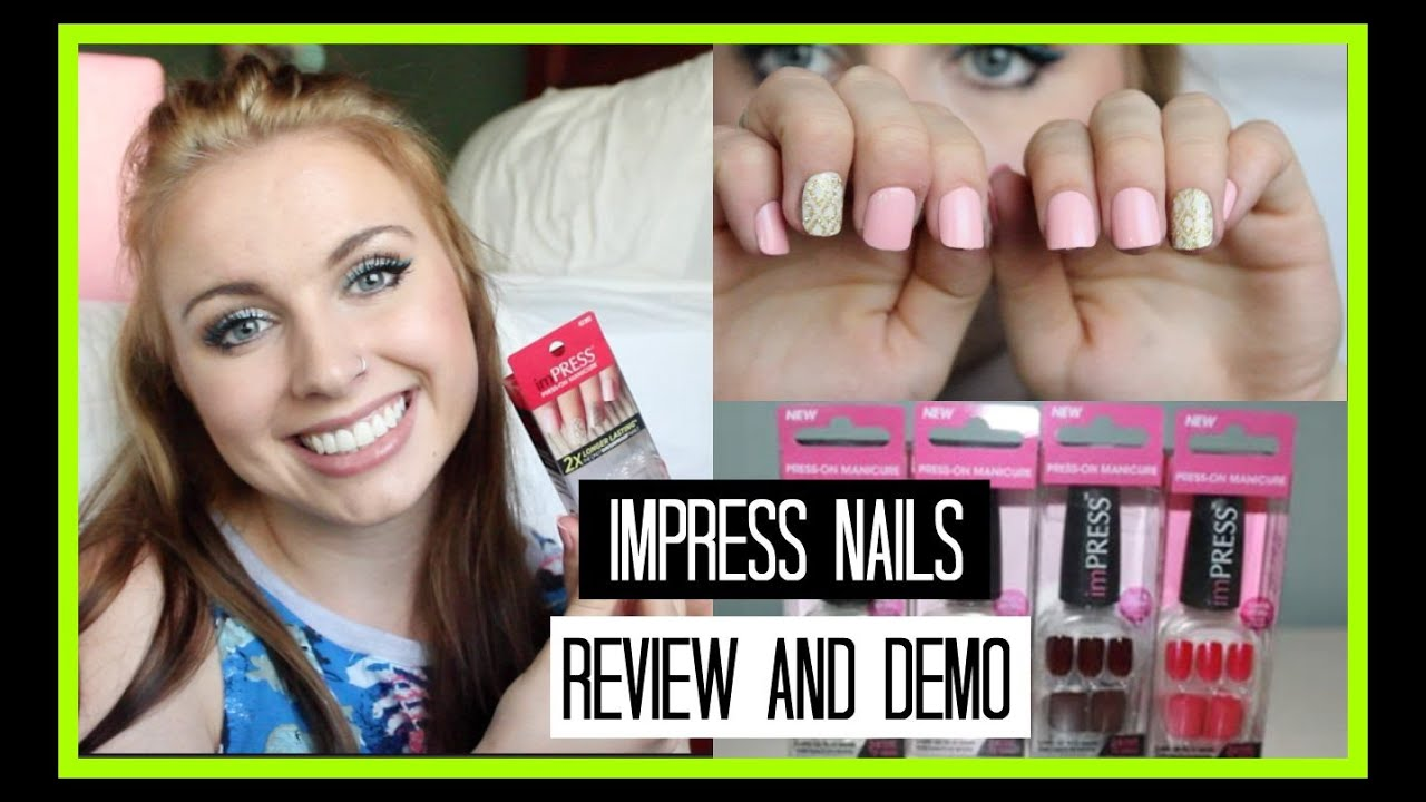 Fake Nails on a Budget | Impress Press On Nails | Review, Demo, + ...