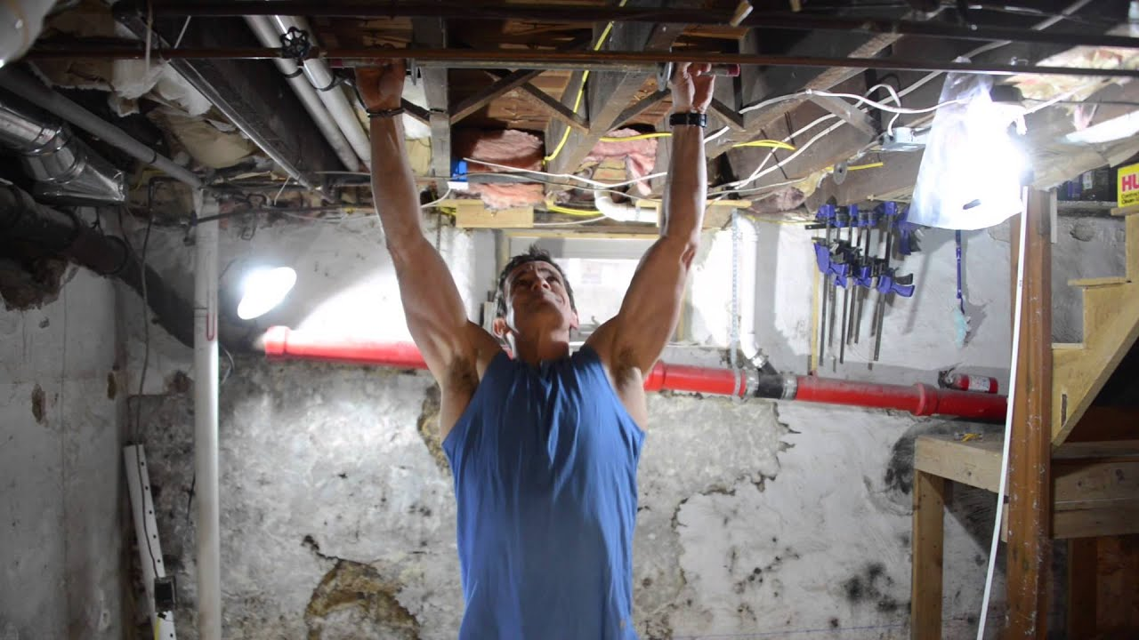 how to make a diy pull up bar youtube