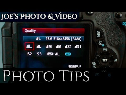 How To Switch Between RAW & Jpeg On A Canon DSLR | Photography Tips