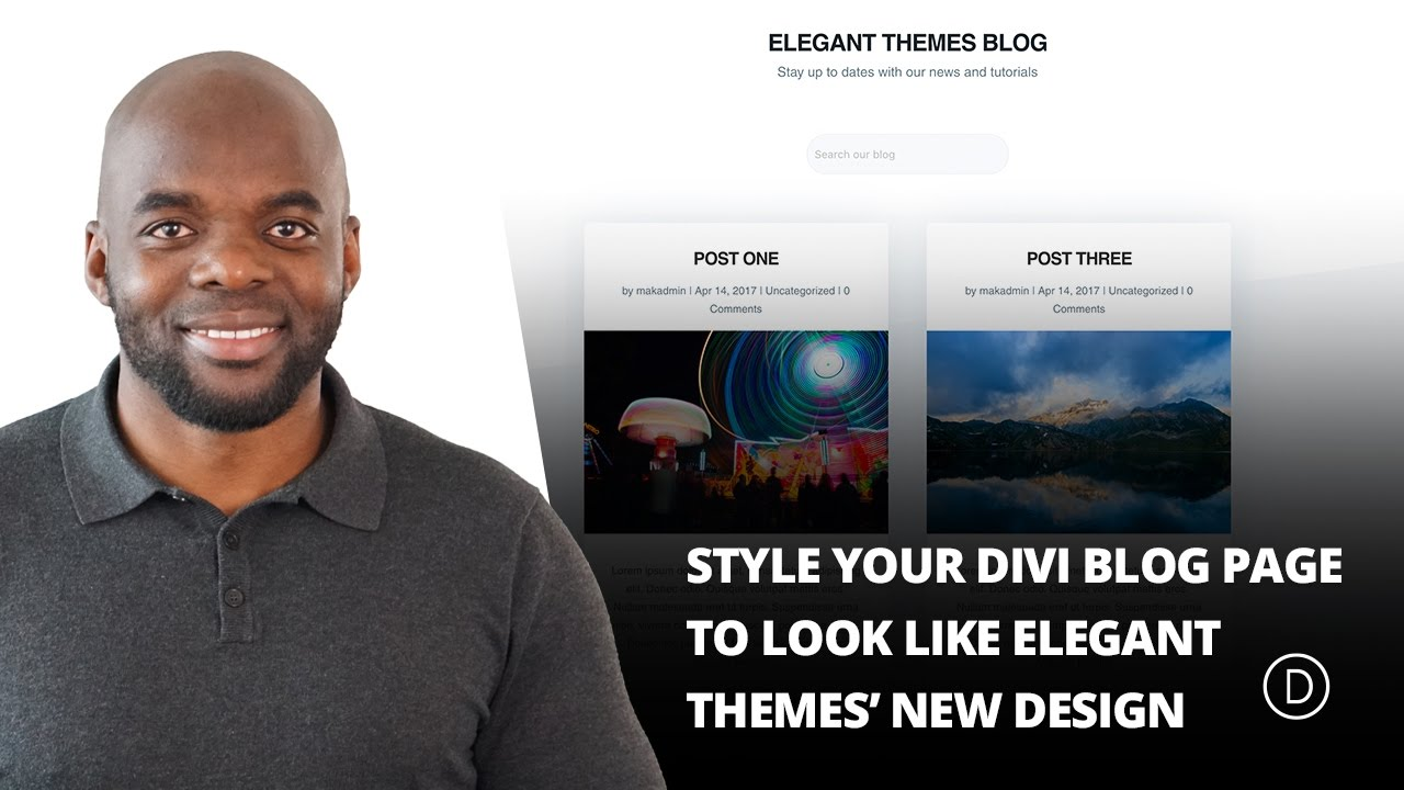 How to Style Your Divi Blog Page to Look Like Elegant Themes' New Design -  YouTube