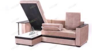 Угловой диван Атланта со столиком в велюре(, 2015-10-01T07:57:24.000Z)