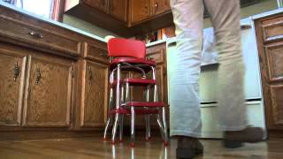 Red Retro Step Stool