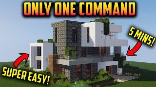 💯Minecraft:Modern House in 1 Command