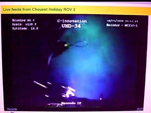 ROV Methane Hydrates Explosion off Biloxi Dome BP Deepwater Horizon