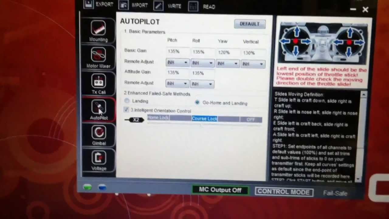 how to setup a dx6i and dji naza m full function