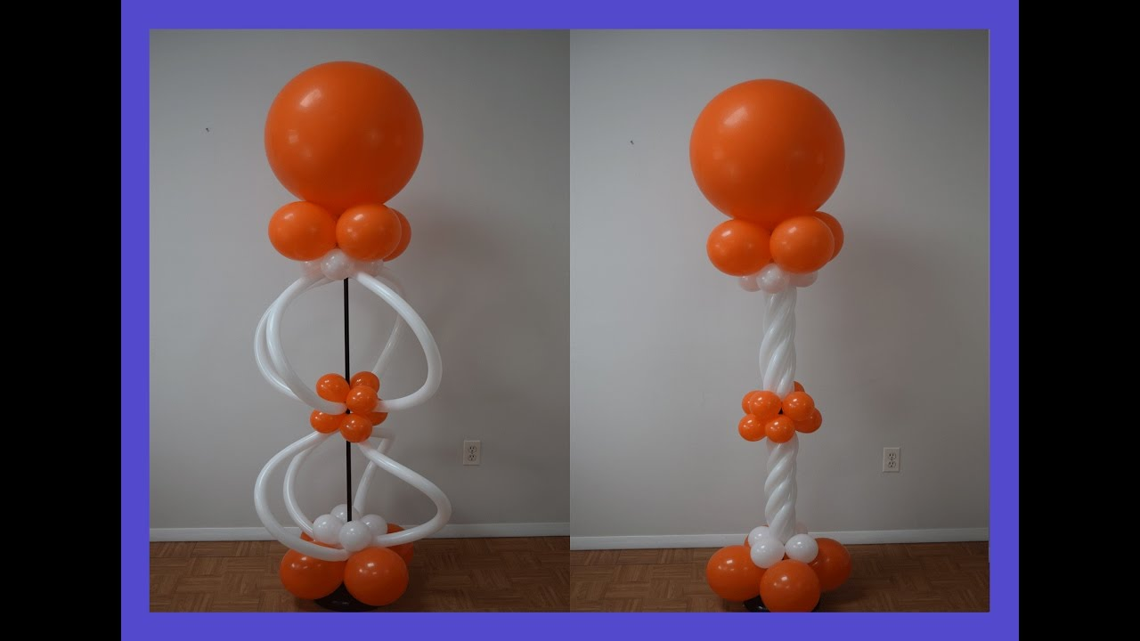 How to make balloon spiral twist columns how to make pattern balloon column series part 4 youtube