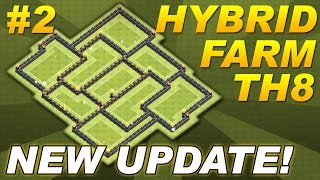 Clash of Clans NEW UPDATE TH8 Farming Base CoC BEST Town Hall 8 Hybrid Base Defense Design Setup #2