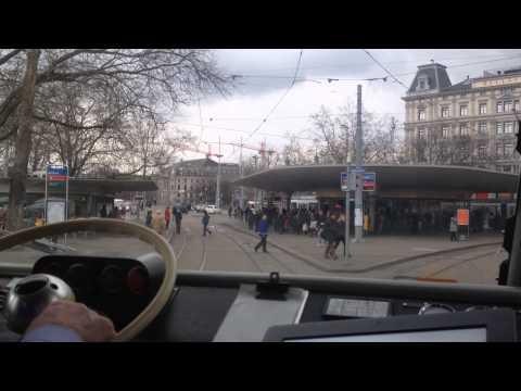 VBZ Zürich Tram   Be 4/6 ''Mirage'' - Museumslinie 21: Rehalp - Hauptbahnhof