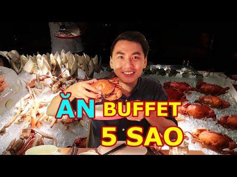 ĂN BUFFET 5 SAO Ở SÀI GÒN  Tôm hùm, cua tuyết, hải sản  Seafood buffet