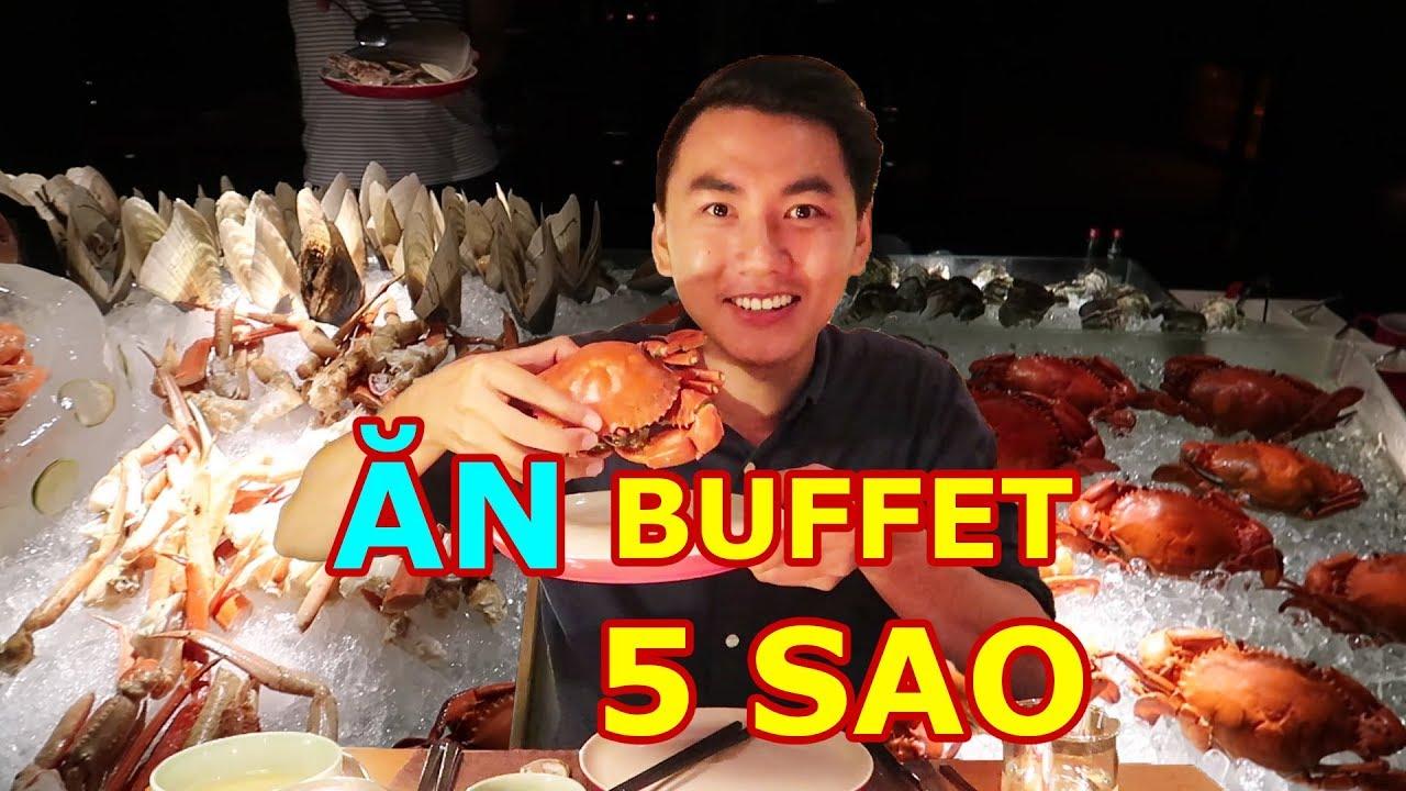 ĂN BUFFET 5 SAO Ở SÀI GÒN |Tôm hùm, cua tuyết, hải sản |Seafood buffet