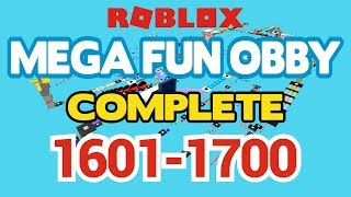ROBLOX - MEGA FUN OBBY COMPLETED - Stage 1601-1700 (Workthrough)