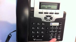 Vertical 2 Line Phone - Answering A Call On The Speakerphone