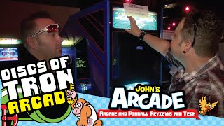 Environmental Discs of Tron (EDOT) Arcade Game Review Gameplay - 1983 Bally / Midway