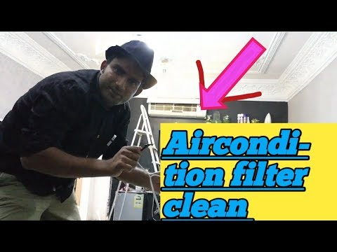 How To Clean air conditioner Filters  At Home सिंपल