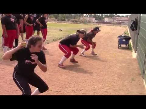 Emily Burrow on SoCal Firecrackers at Firecrackers Softball Skills Clinic with Lauren & Jackie Sweet