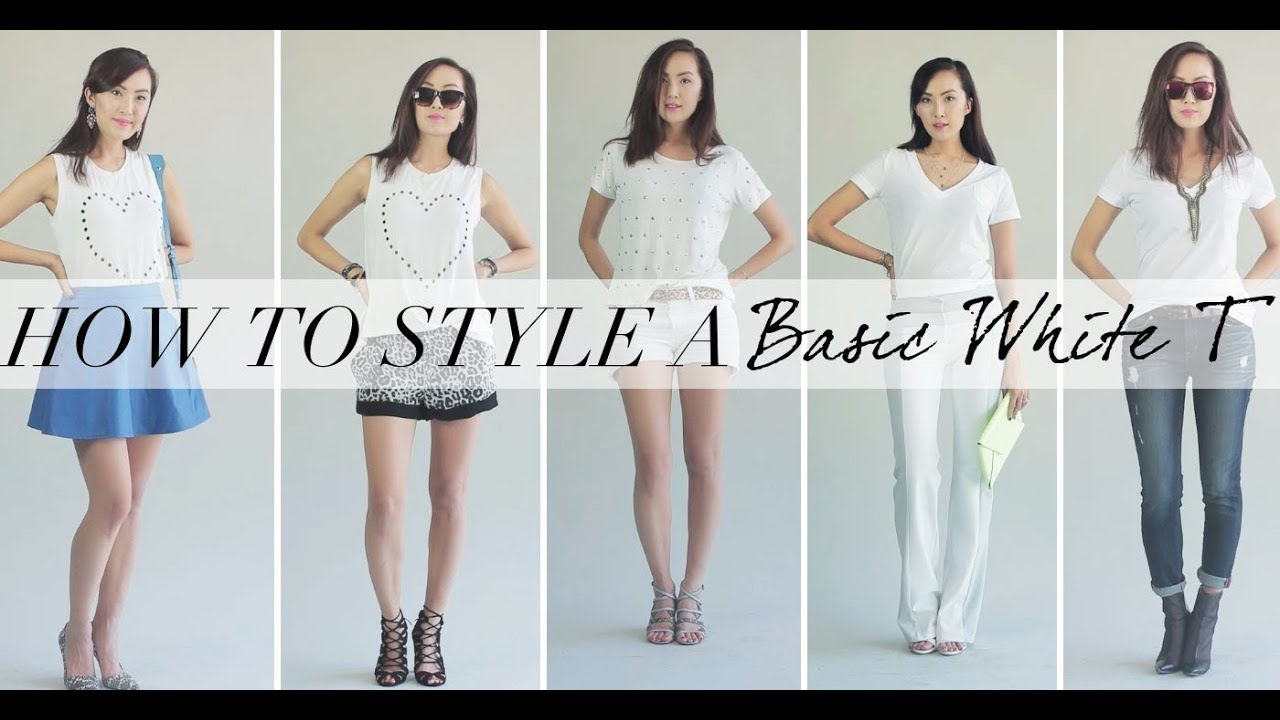 How To Style A Basic White Tshirt