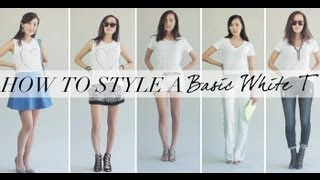 How To Style A Basic White Tshirt | Tranformation