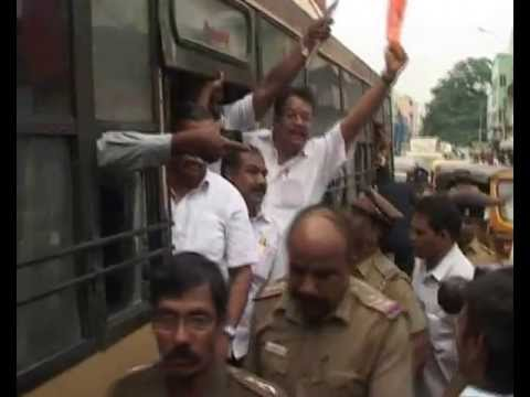 AGNI NEWS SERVICES BJP PROTEST AND   ROAD ROKO IN CHENNAI