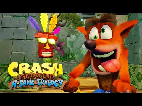 CRASH BANDICOOT no PS4!? - Crash N. Sane Trilogy... Remake / Remaster Gameplay em Português!