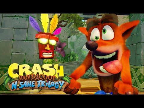CRASH BANDICOOT no PS4!? - Crash N. Sane Trilogy... Remake / Remaster Gameplay em Português!