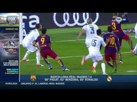[HD] Barcelona-Real Madrid 1-2 full highlights telecronaca ITA