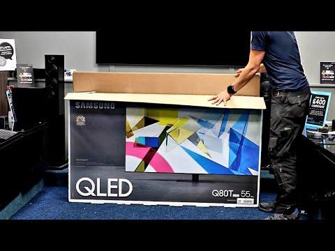 Samsung QLED Q80T Unboxing, einrichten und erster Eindruck