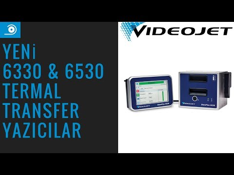 Videojet 6330 & 6530 Termal Transfer Yazıcılar