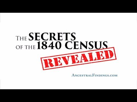 AF-034: The Secrets of the 1840 Census, Revealed