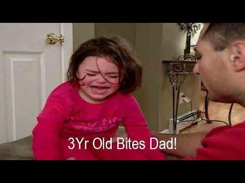 3Yr Old Girl Bites Dad During Tantrum  Supernanny