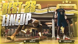 THE NEW BEST 2S LINEUP FOR THE COMP STAGE | SPIFFYJC X MYBRICKWALL | GOLD RUSH X RUFFLES | NBA 2K19