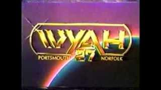 WYAH 27 Portsmouth VA  1984  Movie break and Benson promo