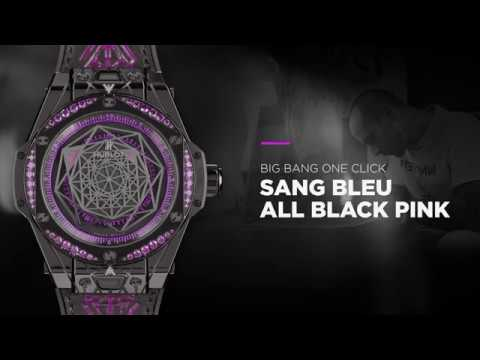HUBLOT - BIG BANG SANG BLEU ALL BLACK PINK/RED/BLUE