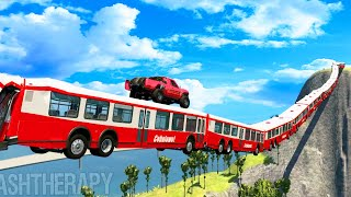 BeamNG DRIVE  Articulated Bus Crashes #9 CrashTherapy