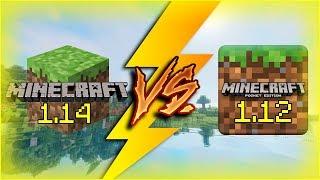 Minecraft PC 1.14 vṡ Minecraft PE 1.12