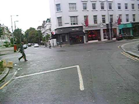 Driving up fulham road in a 7.5 MAN