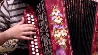 Как научиться играть на гармони песню коробейники 2 урок