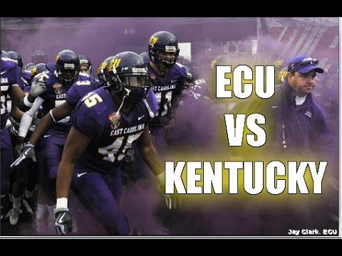 """ECU vs Kentucky - """"The Kneecap Bowl"""""""