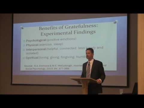 Robert Emmons - Gratitude as the Lynchpin Between Adversity and ...