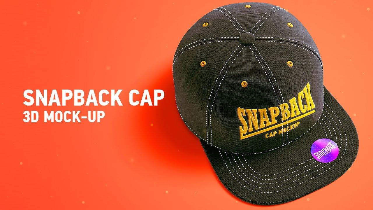 192b9a70673 Snapback Cap 3d Mockup Video Tutorial - YouTube