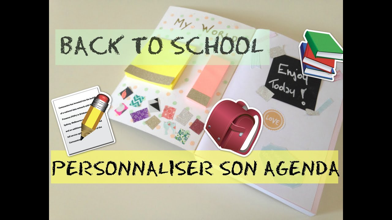 back to school personnaliser son agenda d youtube. Black Bedroom Furniture Sets. Home Design Ideas