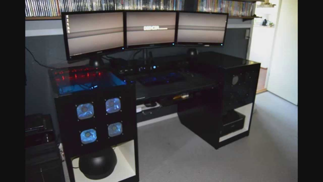 Deskcom Computer Built Into Desk Youtube