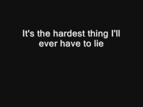 98 degrees- The hardest thing lyrics