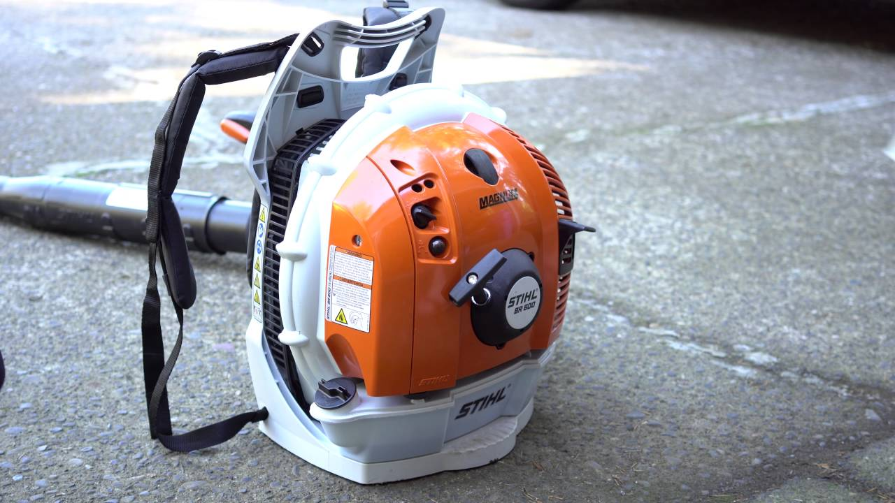 How To Start Cold Engine Of Stihl Leaf Blower Youtube