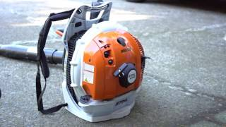 How to start cold engine of STIHL leaf blower