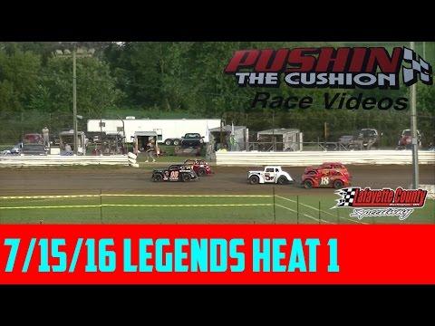 Lafayette County Speedway 7/15/16 Legends Heat 1