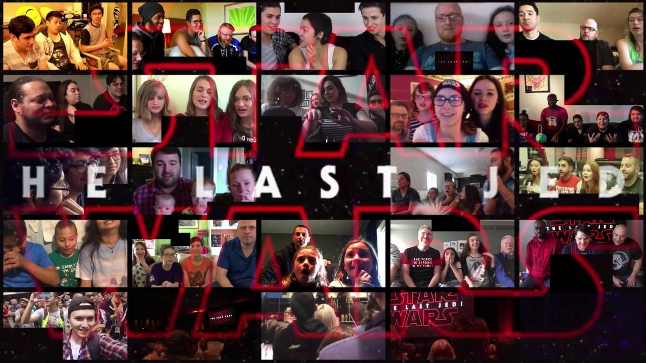 Download Star Wars 8 - Group Reactions mashup to The Last Jedi Trailer #1 | 19k subs bonus video
