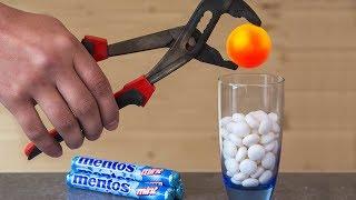 EXPERIMENT Glowing 1000 Degree METAL BALL VS MENTOS thumbnail