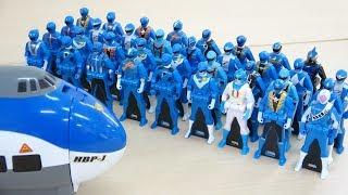 Blue Power Rangers Superhero VS Blue Jumbo Jet Giant Orbeez Shot スーパー戦隊 vs トミカジャンボジェット